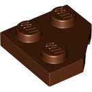 LEGO Reddish Brown Wedge Plate 45° 2 x 2 (26601)