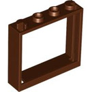 LEGO Reddish Brown Window 1 x 4 x 3 without Shutter Tabs (60594)