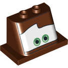 LEGO Reddish Brown Windscreen 2 x 4 x 3 with Mater Eyes (94856)