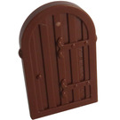 LEGO Reddish Brown Wood Door with hinges for 30044 (94161)