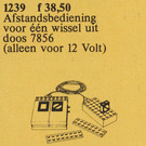 LEGO Remote Controlled Point Motor 12V Set 1239-2