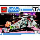 LEGO Republic Attack Gunship Set 7676 Instructions