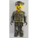 LEGO Res-Q worker with White Beard and Cap Minifigure