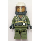 LEGO Rescue Worker with Hard Hat, Breathing Tank, and Air Hose Minifigure