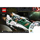 LEGO Resistance A-wing Starfighter Set 75248 Instructions
