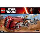 LEGO Rey's Speeder Set 75099 Instructions