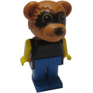 LEGO Ricky Raccoon with Black Top Fabuland Figure