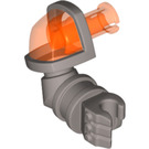 LEGO Right Arm with Armor and Trans-Neon Orange Shoulder (24104)