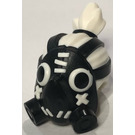 LEGO Roadhog Gasmask with White Hair in a Topknot (64639)