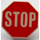 LEGO Roadsign Clip-on 2 x 2 Octagonal with Stop