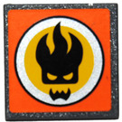 LEGO Roadsign Clip-on 2 x 2 Square with Dr. Inferno Sticker with Type 1 Clip (15210)