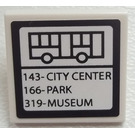LEGO Roadsign Clip-on 2 x 2 Square with Sticker from Set 60026 with Type 1 Clip (15210)