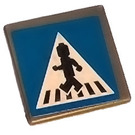 LEGO Roadsign Clip-on 2 x 2 Square with Sticker from Set 8401 with Type 1 Clip (15210)