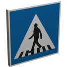LEGO Roadsign Clip-on 2 x 2 Square with Zebra Crossing Sign with Type 1 Clip (15210)