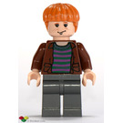LEGO Ron Weasley with Brown Shirt and Striped Jumper Minifigure