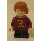 LEGO Ron Weasley with 'R' on Dark Red Pullover, short legs Minifigure