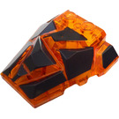LEGO Roof Rock Tile 4 x 4 with Jagged Angles with Lava Crust Decoration (24374 / 64867)