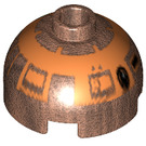 LEGO Round Brick 2 x 2 Dome Top (Undetermined Stud) with Decoration (59606)