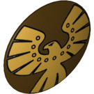LEGO Round Shield with Gold Eagle Decoration (13908)