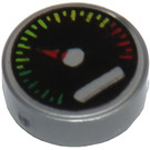 LEGO Round Tile 1 x 1 with Groove with Tachometer Decoration (13541 / 98138)
