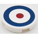 """LEGO Round Tile 2 x 2 with Roundel Sticker from Set 7307 with """"X"""" Bottom (4150)"""