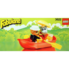 LEGO Rowboat with Lionel Lion and Hannah Hippopotamus Set 3622