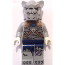 LEGO Saber Tooth Tiger Tribe Warrior with White Fangs Minifigure