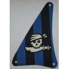 LEGO Sail with Black and Blue stripes, Skull with Pirate Sword and Bandana