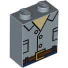 LEGO Sand Blue Brick 1 x 2 x 2 with Decoration with Inside Stud Holder (39442)