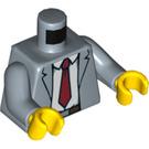 LEGO Sand Blue Detective Ace Brickman Minifig Torso (76382)