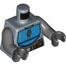 LEGO Sand Blue Mandalorian Warrior Minifig Torso (76382)