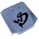 LEGO Sand Blue Wedge 4 x 4 x 0.66 Curved with WS Wylde Style Sticker