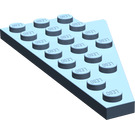 LEGO Sand Blue Wing 4 x 8 Left with Underside Stud Notch (3933)