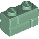 LEGO Sand Green Brick 1 x 2 with Embossed Bricks (98283)