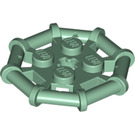LEGO Sand Green Plate 2 x 2 with Rod Frame Octagonal (Reinforced Completely Round Studs) (75937)