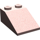 LEGO Sand Red Slope 2 x 3 (25°) with Rough Surface (3298)