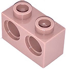 LEGO Sand Red Technic Brick 1 x 2 with 2 Holes (32000)