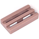 LEGO Sand Red Tile 1 x 2 Grille (with Bottom Groove) (2412)