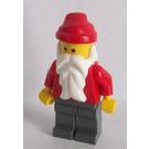 LEGO Santa Minifigure with Dark Stone Gray Legs