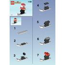 LEGO Santa on Skis Set 1128-1 Instructions
