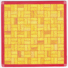 LEGO Scala Baseplate Cardboard with Yellow Squares from Set 3200 (71484)