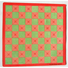 LEGO Scala Baseplate Paper with Pink and Green Squares from Set 3202 (71482)