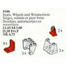 LEGO Seats, Steering Wheels and Windscreens Set 5188