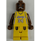 LEGO Shaquille O'Neal, Los Angeles Lakers Minifigure Home Uniform #34