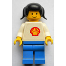 LEGO Shell Female Worker with trapezoid torso sticker Minifigure