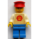 LEGO Shell Worker with trapezoid torso sticker Minifigure