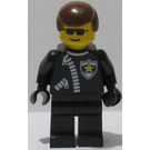 LEGO Sheriff with Brown Hair and Zippered Jacket Minifigure