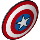 LEGO Shield Round and Rounded Front with Captain America Shield (50695 / 75902)