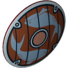 LEGO Shield Round with Fish Decoration (16534)