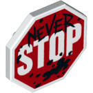 LEGO Shield with Never STOP Sign (44156)